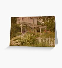 House with the white picket fence Greeting Card