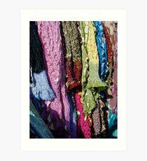 Whose Sari? Art Print