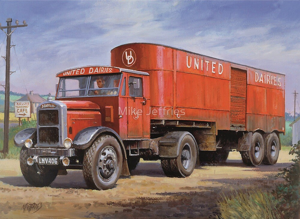 Scammell van United Dairies. by Mike Jeffries
