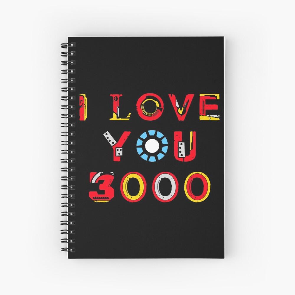 I Love You 3000 v2 Spiral Notebook