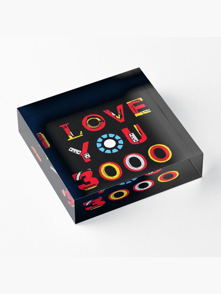 Alternate view of I Love You 3000 v2 Acrylic Block