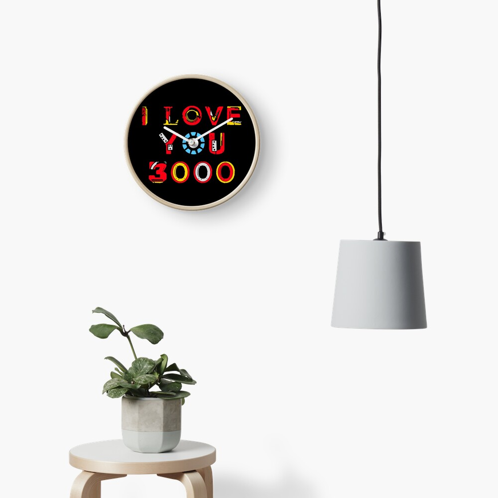 I Love You 3000 v2 Clock