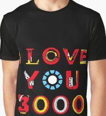 Ich liebe dich 3000 v2 Grafik T-Shirt