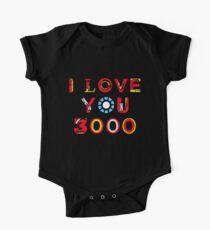 Body de manga corta para bebé Te amo 3000 v2