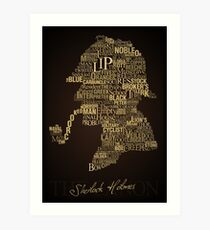 Sherlock Holmes The Canon Art Print