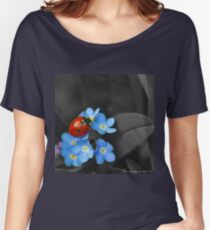 Ladybug and Violets Women's Relaxed Fit T-Shirt