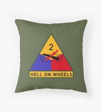 2nd Armored Division (United States) Throw Pillow