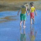 Children on the beach 5 by Susan Brown