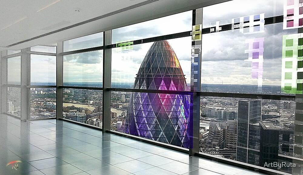 London Gherkin Tower by ArtByRuta