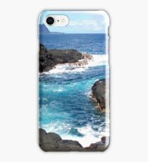 Blue Ocean Waters of Queens Bath on Kauai Hawaii iPhone Case/Skin