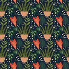 Tropical Botanical Pattern by anabellstar