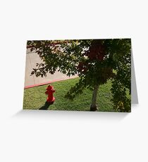 Little Red Fireman Greeting Card