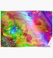 Colors & Colors & Flowers. Poster