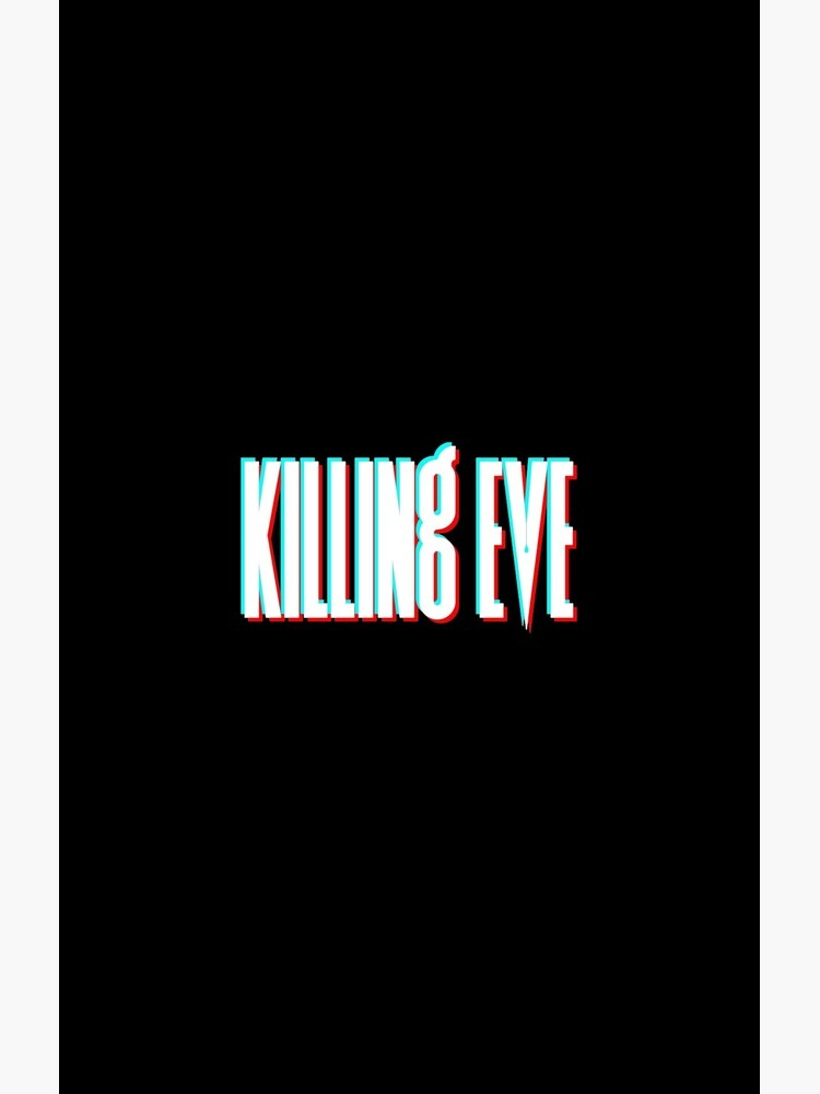 Killing Eve Retro Blur Logo - White by VikingElf