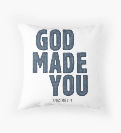 God made you - Ephesians 2:10 Floor Pillow