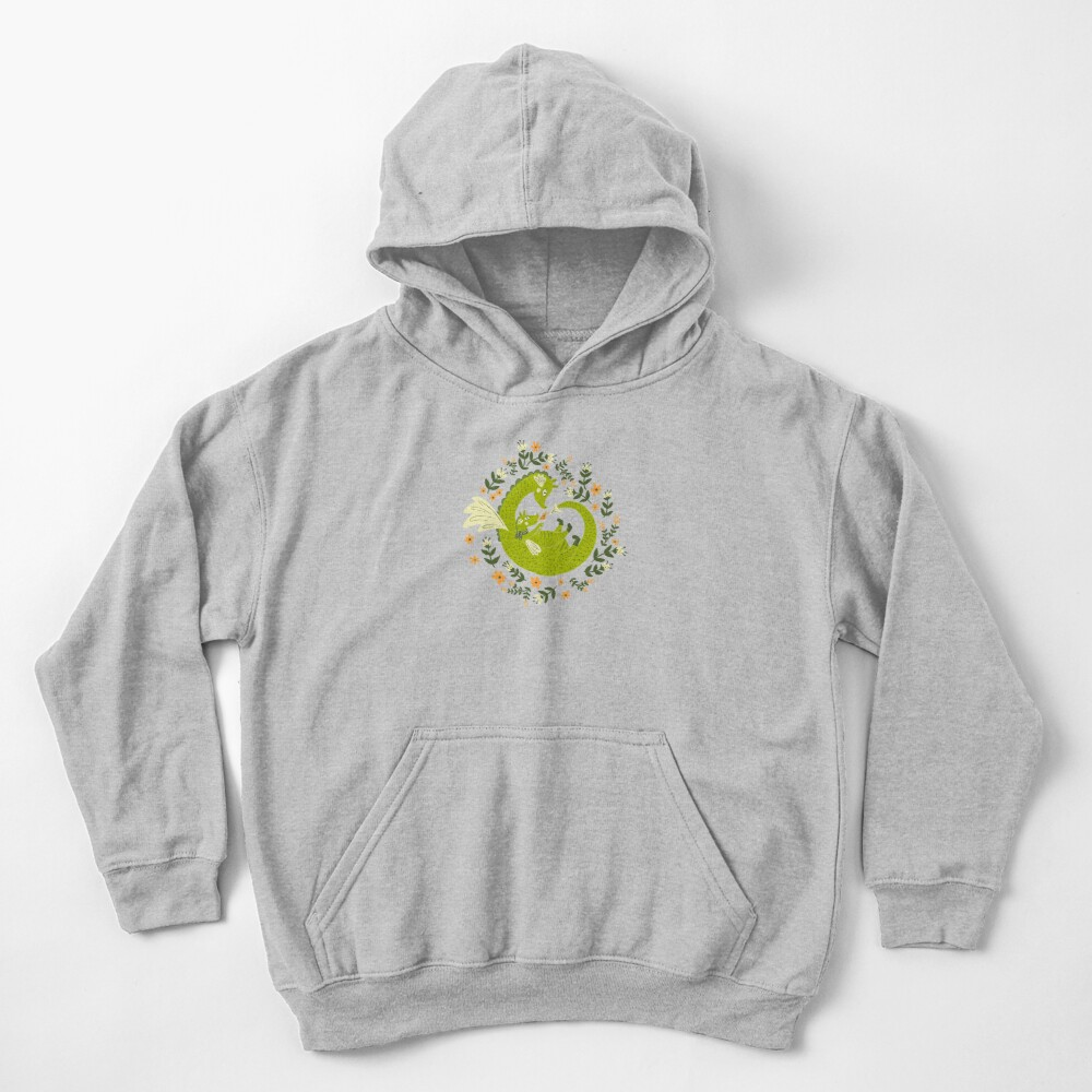 Mama and Baby Dragon Kids Pullover Hoodie