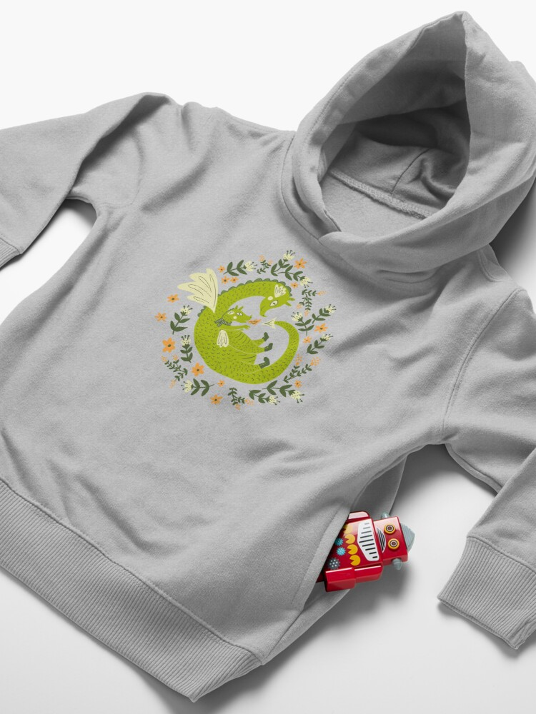 Alternate view of Mama and Baby Dragon Toddler Pullover Hoodie