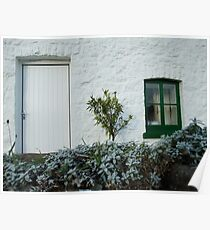 Frosty Cottage Poster