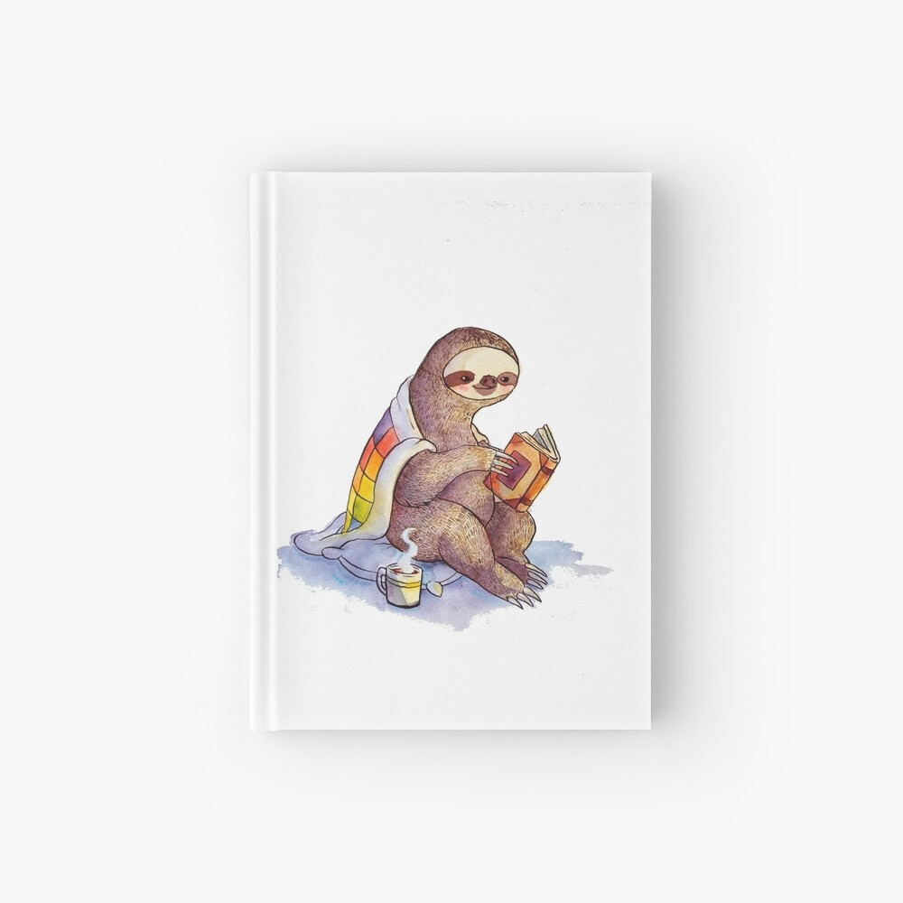 Cozy Sloth Hardcover Journal