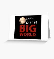 Little Planet - Big World Greeting Card