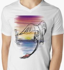 Toothless Sunset Men's V-Neck T-Shirt