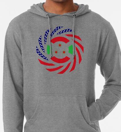 Burundian American Multinational Patriot Flag Series Lightweight Hoodie