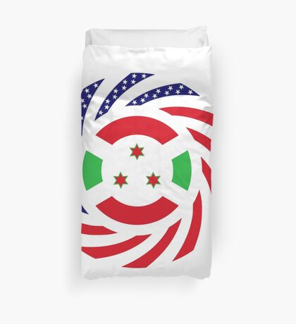 Burundian American Multinational Patriot Flag Series Duvet Cover