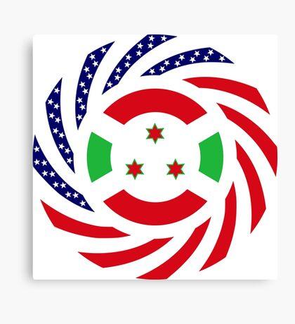 Burundian American Multinational Patriot Flag Series Canvas Print