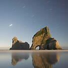 Another Wharariki beach night shot by Paul Mercer