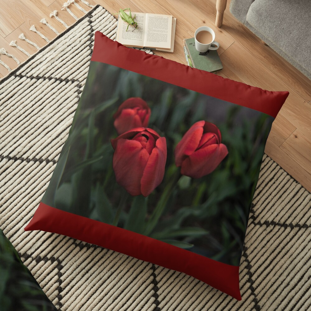 colors of spring Floor Pillow