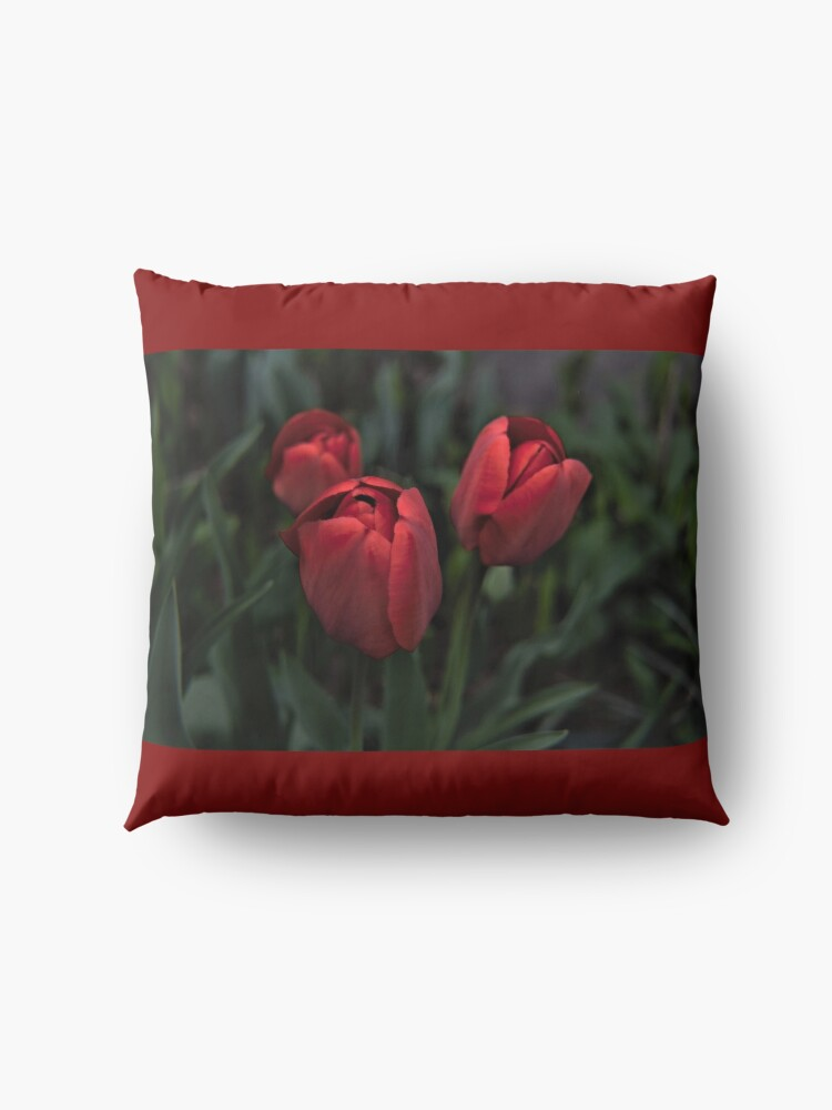 Alternate view of colors of spring Floor Pillow