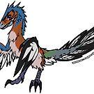 Archie the Archaeopteryx Sticker by zuperbuuworks