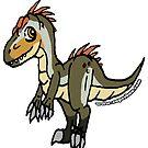 Allan the Allosaurus Sticker by zuperbuuworks