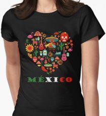 Camiseta entallada para mujer AMOR MÉXICO