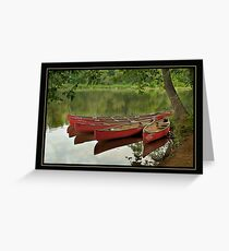 Canoes at Rest Clinton, NJ Greeting Card