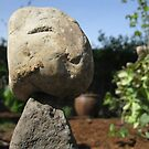 Love and Joy from a Face of Child in a Stone in My Garden by Cara Schingeck