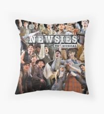 Newsies on Broadway photo collage Throw Pillow