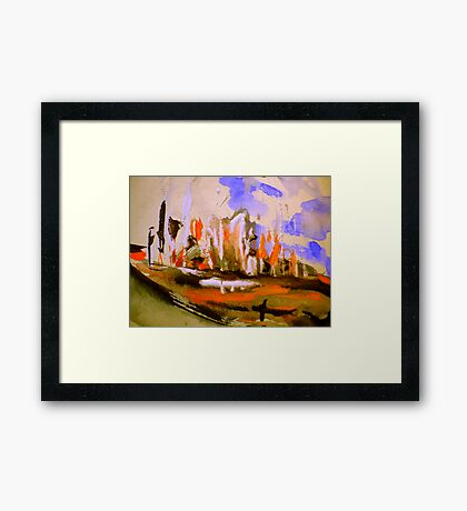 rural towns.... a meeting Framed Print