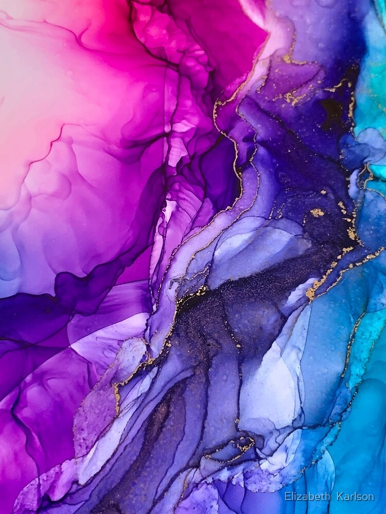 Abstract Vibrant Rainbow Ombre by LSchulz19