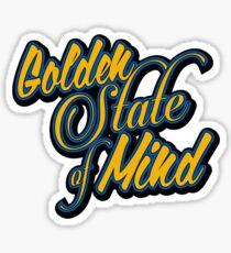 Golden State of Mind Script Sticker