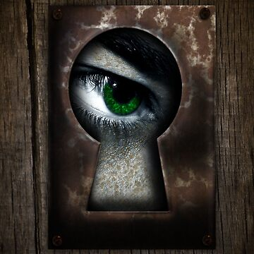 There's a Monster in My Closet! (green eye) by PixelBoxPhoto