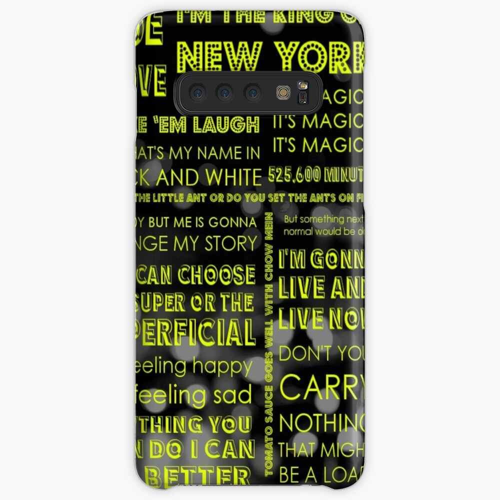 Musical Theatre Quotes | Case & Skin for Samsung Galaxy