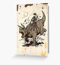 Triceratops CowBot Greeting Card
