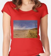 Lisfannon Beach, Fahan, County Donegal, Equirectangular  Women's Fitted Scoop T-Shirt