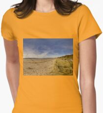 Lisfannon Beach, Fahan, County Donegal, Equirectangular  Women's Fitted T-Shirt