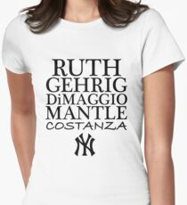 Costanza - Yankees Women's Fitted T-Shirt