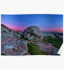 """Dawn At The Rocks"" Poster"