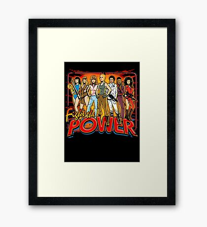 SuperWomen of the 80s - Fight The Power! Framed Print