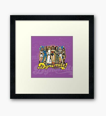 SuperWomen of the 70s - DyNoMite! Framed Print
