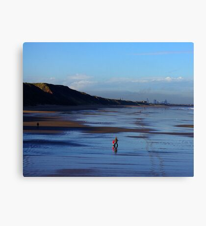 Stroll on the Beach Canvas Print